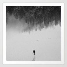 Silent Walk - B&W version Art Print