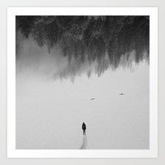 Silent Walk - B&W version Art Print