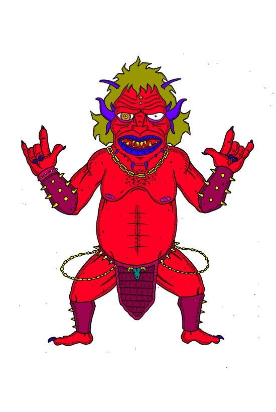 Fat Demon Art Print
