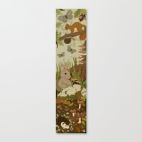 Woodland Critters (sepia… Canvas Print