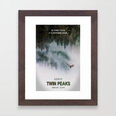 Twin Peaks, 25 Years Later Framed Art Print
