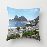 Rio de Janeiro Landscape Throw Pillow