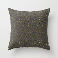 Imaginary Agates (Warm Dark Sand Tones) Throw Pillow