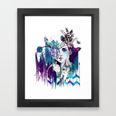 Tribal Girl - Colourway - Framed Art Print
