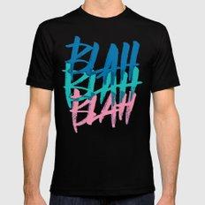 BLAH BLAH BLAH Black SMALL Mens Fitted Tee