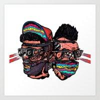 Bass Brothers Album cover  Art Print
