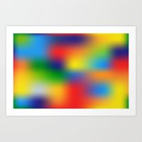 Abstract Colorful Illust… Art Print