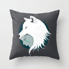 Boy Cries Wolf (White) Throw Pillow