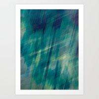 Submerge Aqua Art Print