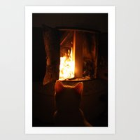 Misan Intranced By Fire.… Art Print