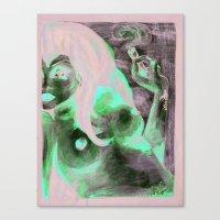Petals N Smoke Canvas Print