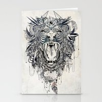 lion Stationery Cards featuring Lion by Feline Zegers