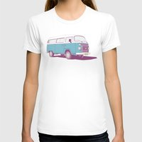 vw T-shirts featuring VW Combi v.02 by CranioDsgn