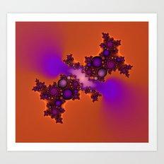 Purple and Orange Fractal Art Print