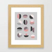 Pastel Geometry 4 Framed Art Print