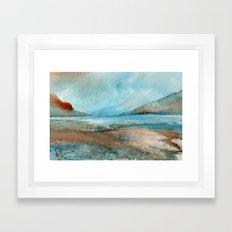 Stillness of the blue ocean tides Framed Art Print