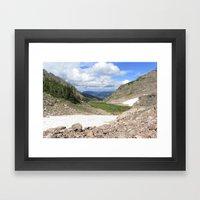 August Snow Framed Art Print