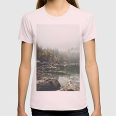 Serenity - Landscape Photography Womens Fitted Tee Light Pink SMALL