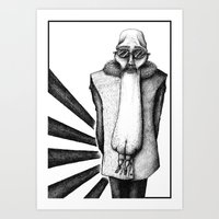ASS FACE Art Print