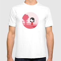 Polkadot Dress Mens Fitted Tee White SMALL