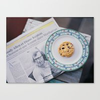 Woody and cookie Canvas Print