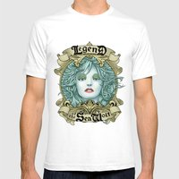 Legend Of The Sea Wolf Mens Fitted Tee White SMALL