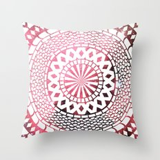 Nebula Snake Mandala Throw Pillow
