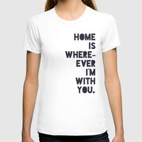 With You Womens Fitted Tee White SMALL