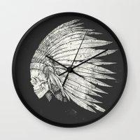 Indian Skull Wall Clock