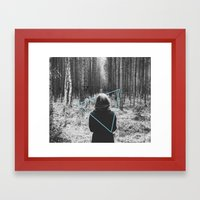 Color in the Woods Framed Art Print