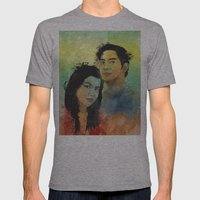 Gidget And Nino Mens Fitted Tee Athletic Grey SMALL