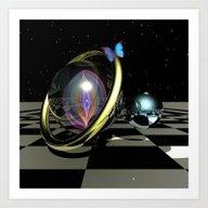 Dark Night Magic, 3D Fan… Art Print