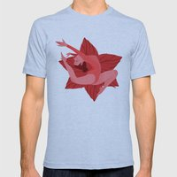 Red Mens Fitted Tee Athletic Blue SMALL