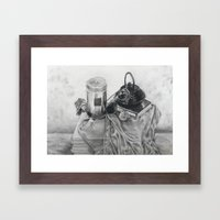 Object study in conte crayon Framed Art Print