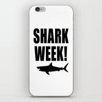 Shark week (on white) iPhone & iPod Skin