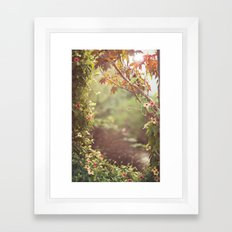 we were talking about the space between us Framed Art Print