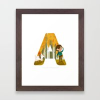 A is for Adventure Framed Art Print