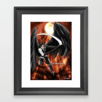 Blood Moon Reaper Framed Art Print