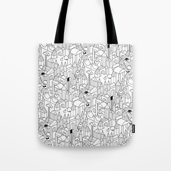 Little Escher's Building Blocks Tote Bag