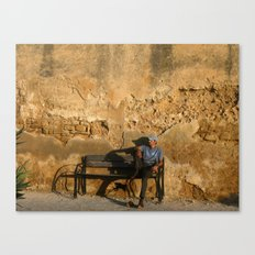 Man in Meknes, Morocco Canvas Print