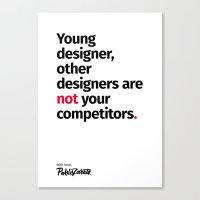 Young Designer — Advice #1 Canvas Print