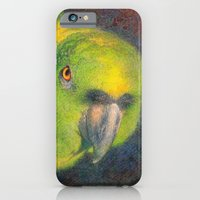 Green parrot iPhone 6 Slim Case