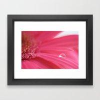 Pink Tear Drop Framed Art Print
