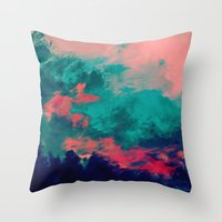 Painted Clouds IV Throw Pillow
