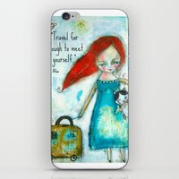 Travel Girl Quote iPhone & iPod Skin