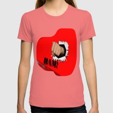 Break Through Womens Fitted Tee Pomegranate SMALL
