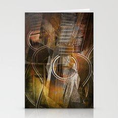 Abstract Cubist Style Guitar Stationery Cards