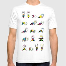 Yoga Bear - 80's Remix SMALL White Mens Fitted Tee