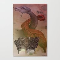 Dragons De Cluny Canvas Print