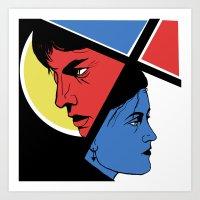 Love In 3 Colors Art Print